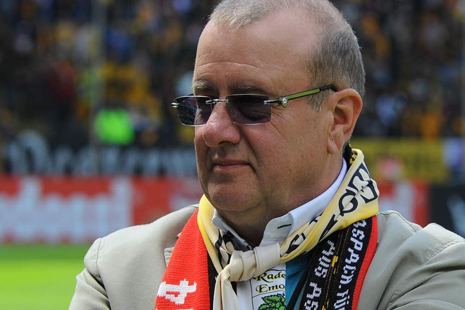 Dynamo-Präsident Andreas Ritter  kann nach diesem Saisonstart sehr zufrieden sein.