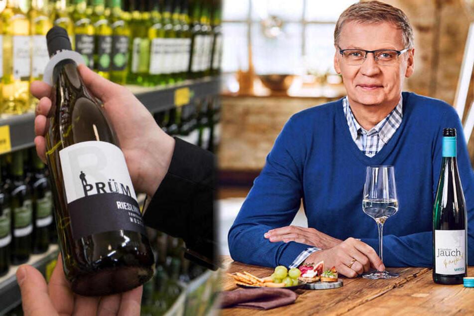 Im Weinregal bei Aldi findet man nun auch den Wein von Günther Jauch.