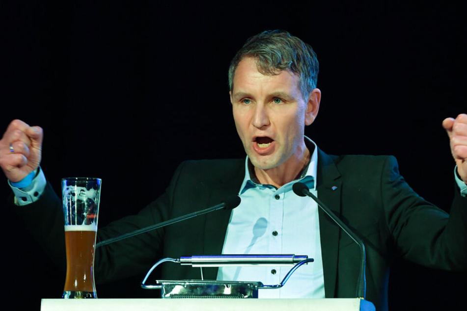 Björn Höcke während seiner Rede zum politischen Aschermittwoch in Arnstadt.