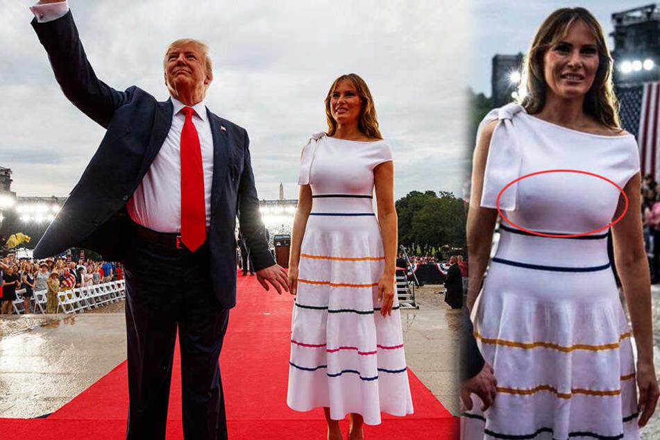Melania Trump leistet sich peinlichen Nippel-Blitzer