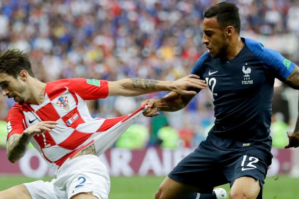 Corentin Tolisso (r.) wurde mit Frankreich in Russland Fußball-Weltmeister.
