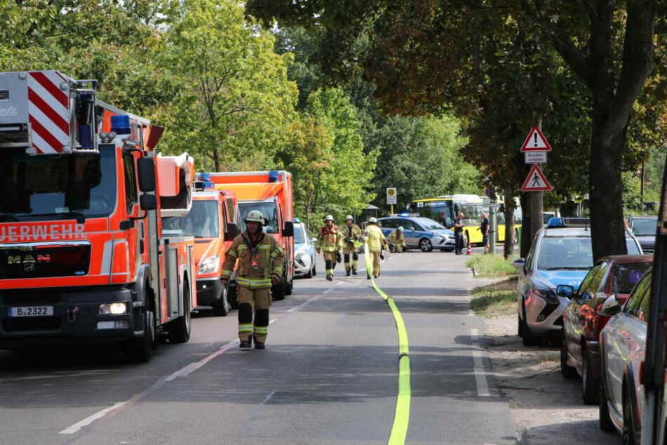 In Berlin-Baumschulenweg kam es am Dienstag zu einem schweren Brand.