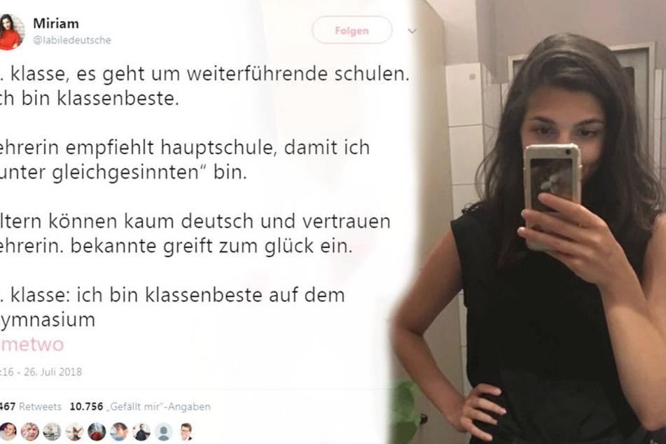 """Lehrerin schlägt Klassenbeste für Hauptschule vor, damit sie unter """"Gleichgesinnten"""" sein kann"""