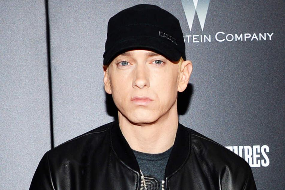 """Rapper Eminem besuchte die Premiere von """"Southpaw""""."""
