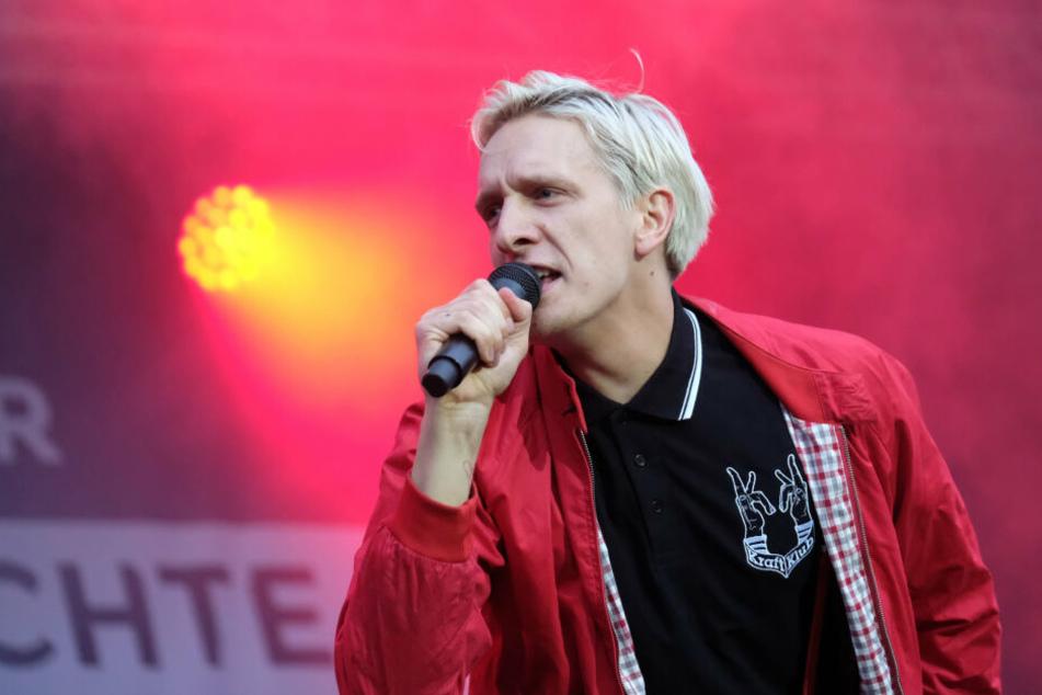 Felix Kummer im September 2018 beim #wirsindmehr-Konzert in Chemnitz.
