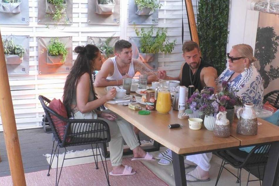 Das Quartett um Janine Pink, Joey Heindle, Tobias Wegener und Lilo von Kiesenwetter hatte am Frühstückstisch das Thema Sex im Alter.