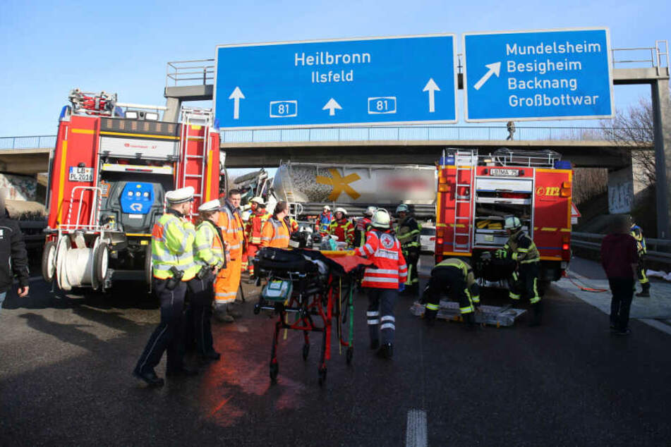 Die A81 wurde in Richtung Heilbronn voll gesperrt.