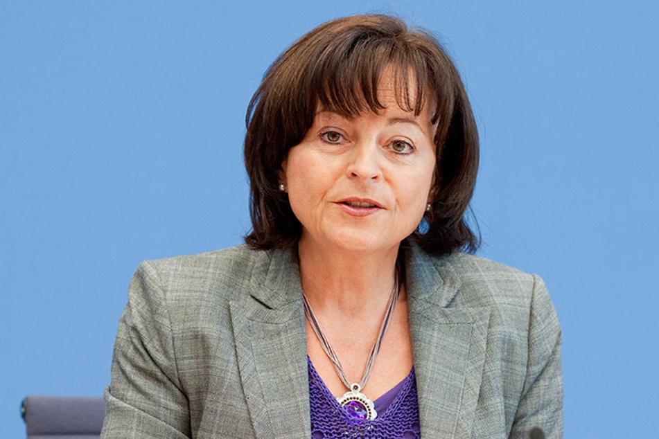 Die Drogenbeauftragte der Bundesregierung, Marlene Mortler, bei einer Pressekonferenz in Berlin.