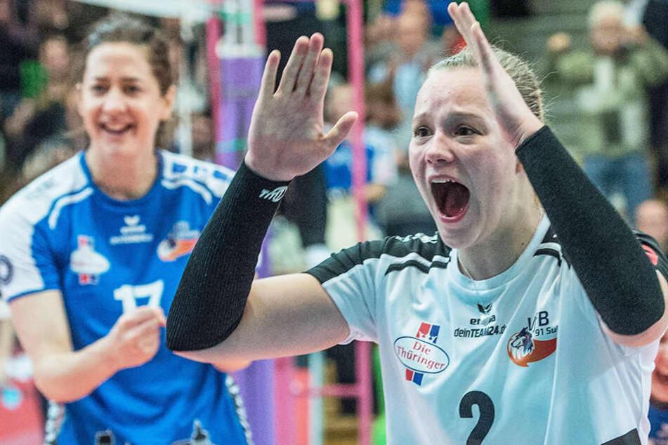 Eine Kämpferin mit großen Emotionen, die in Dresden Nummer zwei gegen Nummer sechs tauscht: Libera Michelle Petter (20).