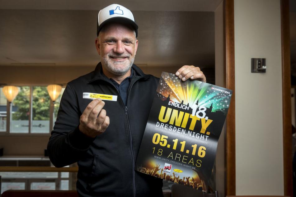 """""""Unity""""-Veranstalter Ralf Koppetzki (41) freut sich auf bis zu 20 000  Partygäste."""