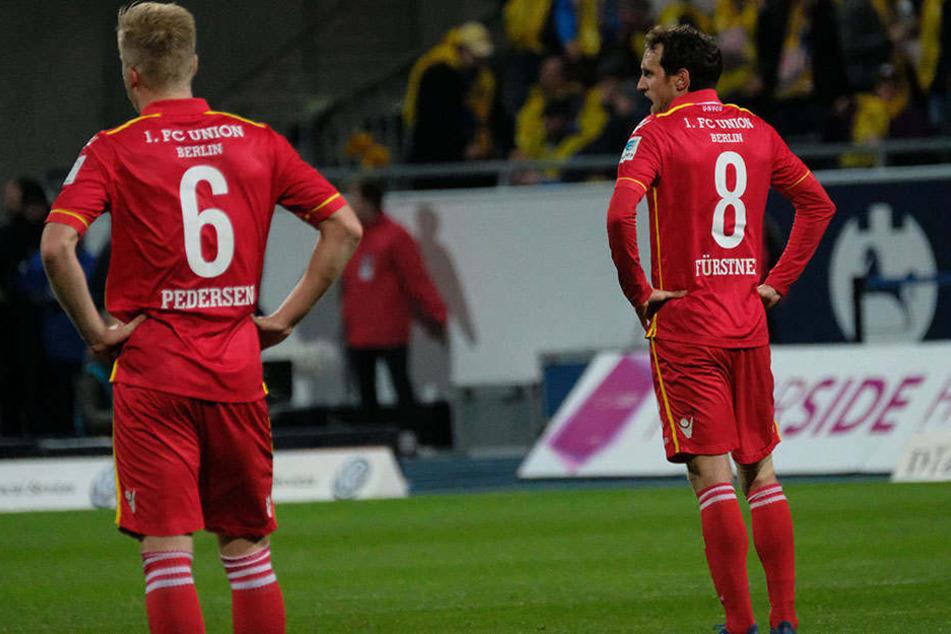 Vielleicht ja nächstes Jahr: Berlins Kristian Pedersen (l.) und Stephan Fürstner sichtlich niedergeschlagen.
