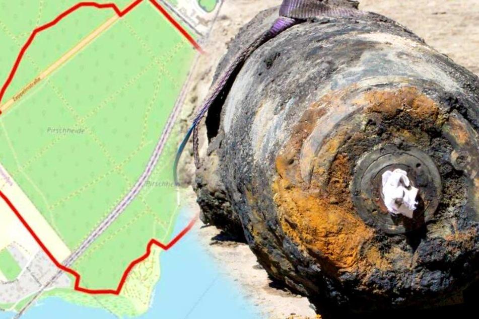 100-Kilo-Weltkriegsbombe in Potsdam gesprengt: Sperrkreis aufgehoben