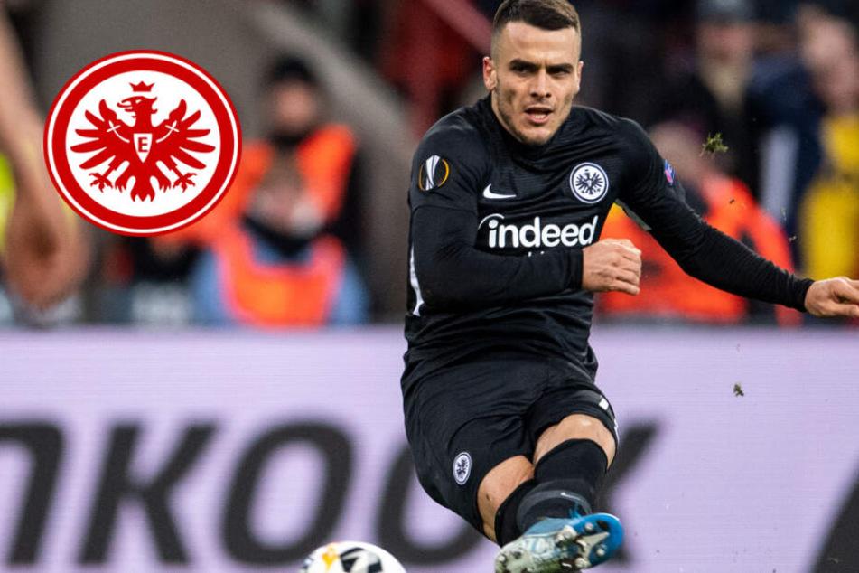 Weiterkommen in Gefahr: Eintracht Frankfurt ohne Fans und mit Last-Minute-Niederlage