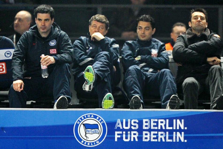 Ante Covic (r) war mit Rene Tretschok (l) bereits unter Otto Rehhagel Co-Trainer.