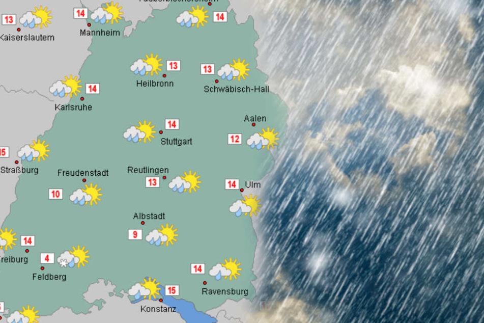 Es wird stürmisch am Donnerstag. (Fotomontage)
