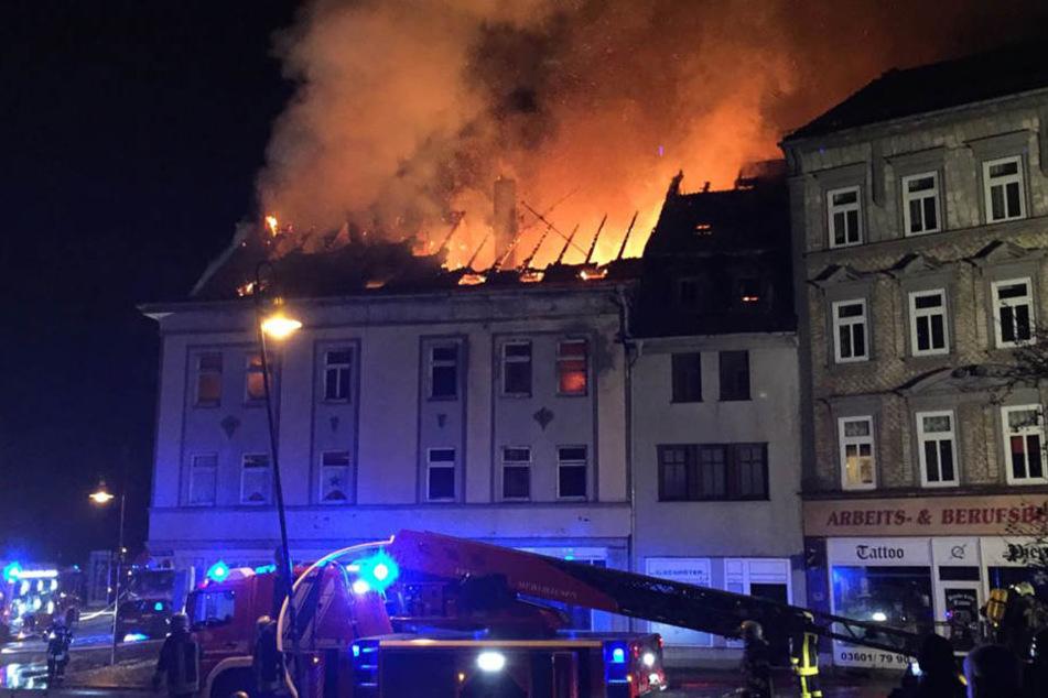 Das Haus in Mühlhausen stand komplett in Flammen.
