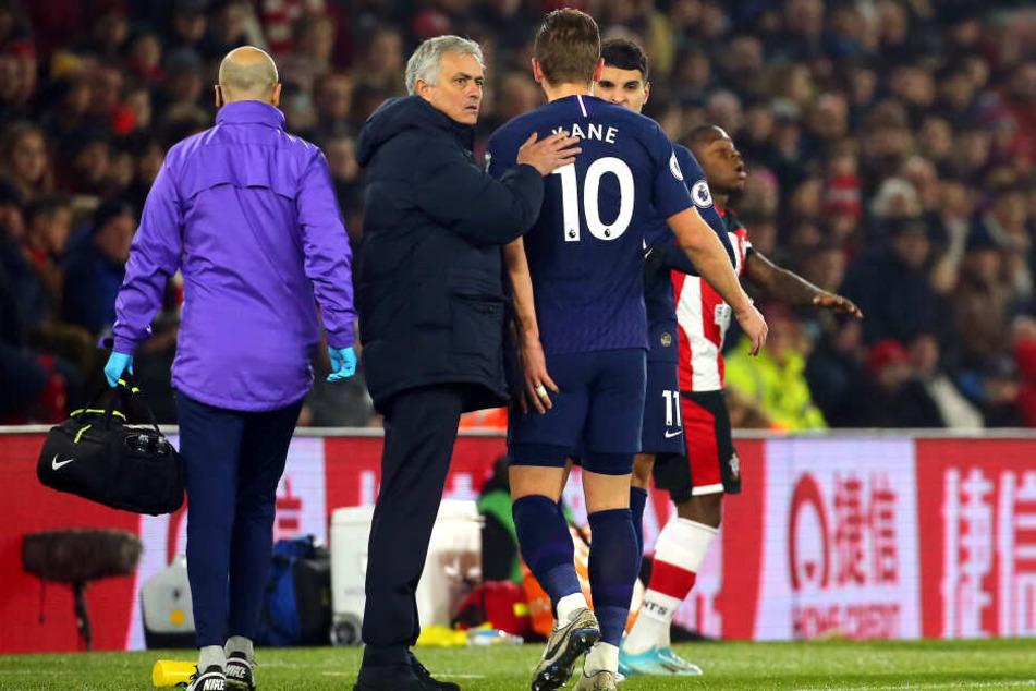 Harry Kane hatte sich am 1. Januar beim FC Southampton (0:1) am Oberschenkel verletzt.