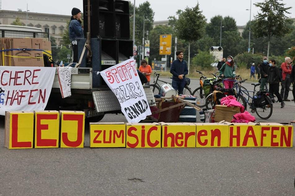 Gegen Mittag trafen sich die Klima-Aktivisten und Aktivistinnen auf dem Wilhelm-Leuschner-Platz.