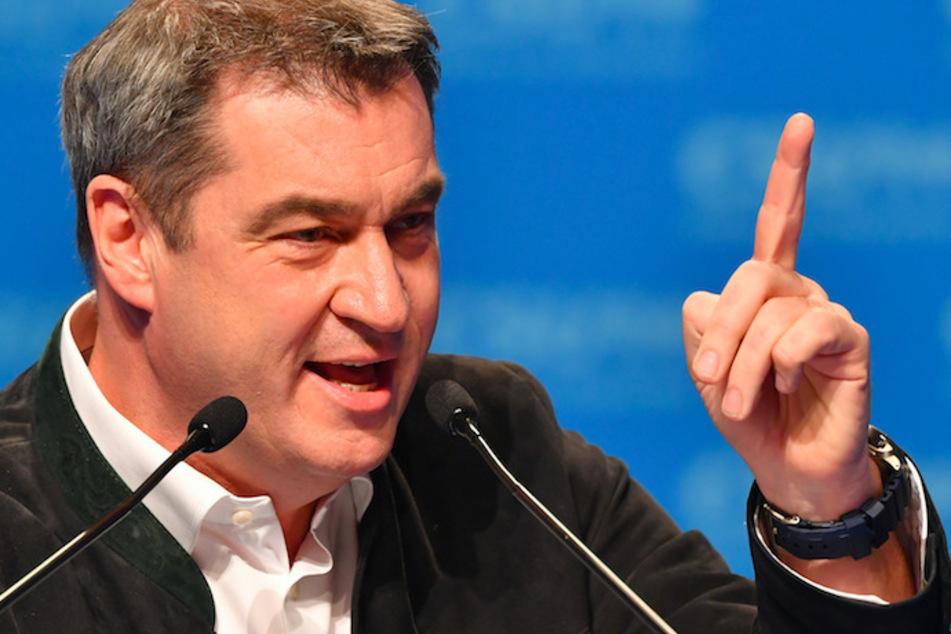 Markus Söder (54), CSU-Vorsitzender und Ministerpräsident aus Bayern, spricht beim Politischen Aschermittwoch der CSU in Passau.