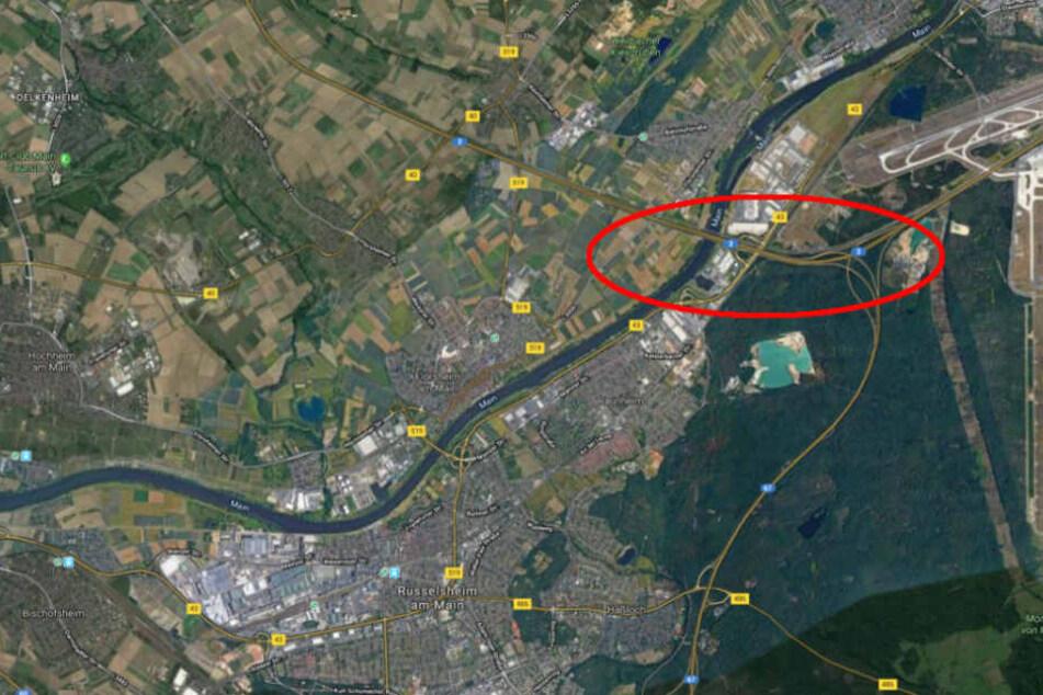 Der Unfall passierte auf der Autobahn 3 bei Raunheim.