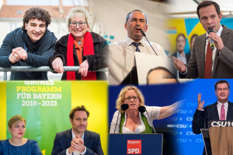 Das sind die Spitzenkandidaten für die bayerische Landtagswahl