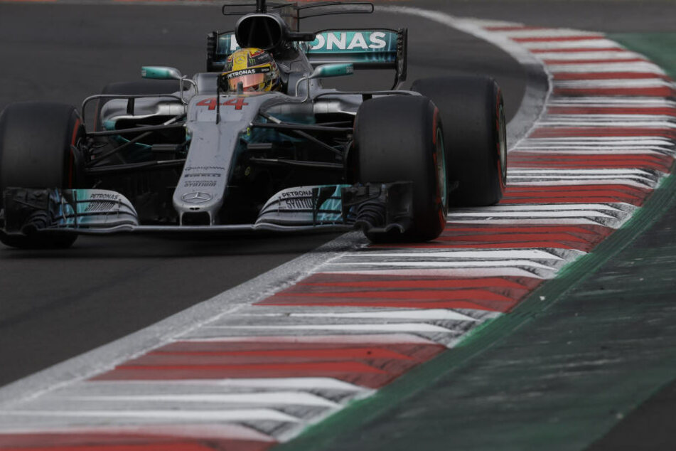 Lewis Hamilton in Aktion.