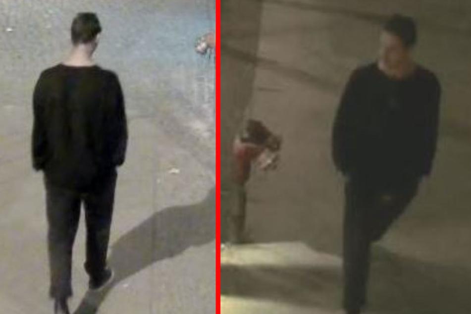 Mit diesen Bildern sucht die Polizei nach einem Verdächtigen.