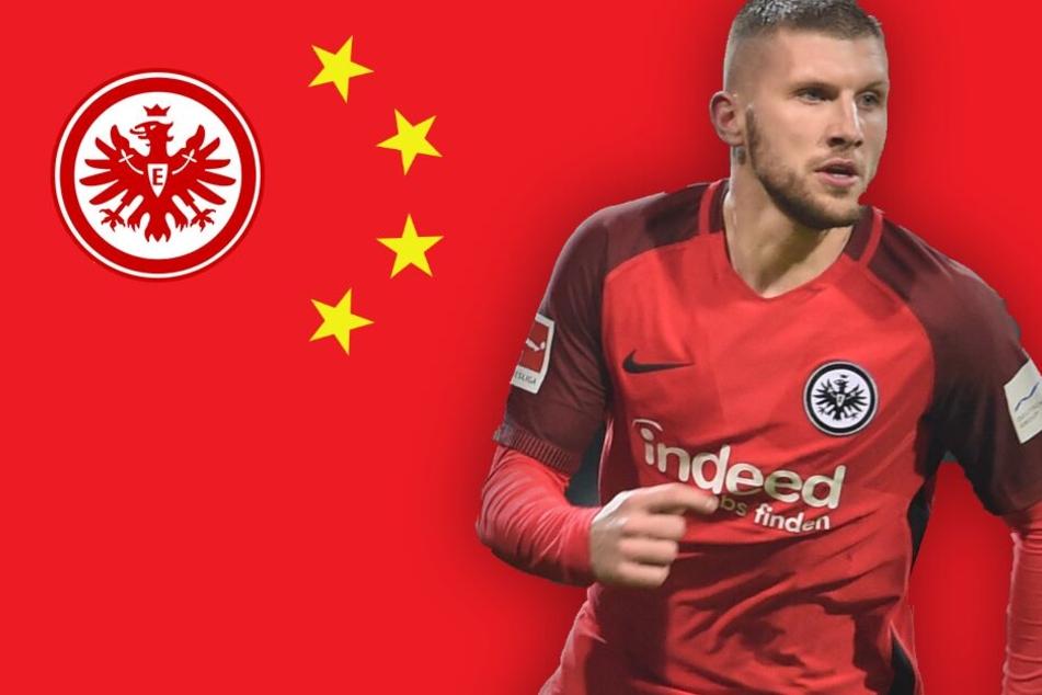 Fotomontage: Zum Abschluss der laufenden Saison kicken Ante Rebic und Co. im Reich der Mitte.