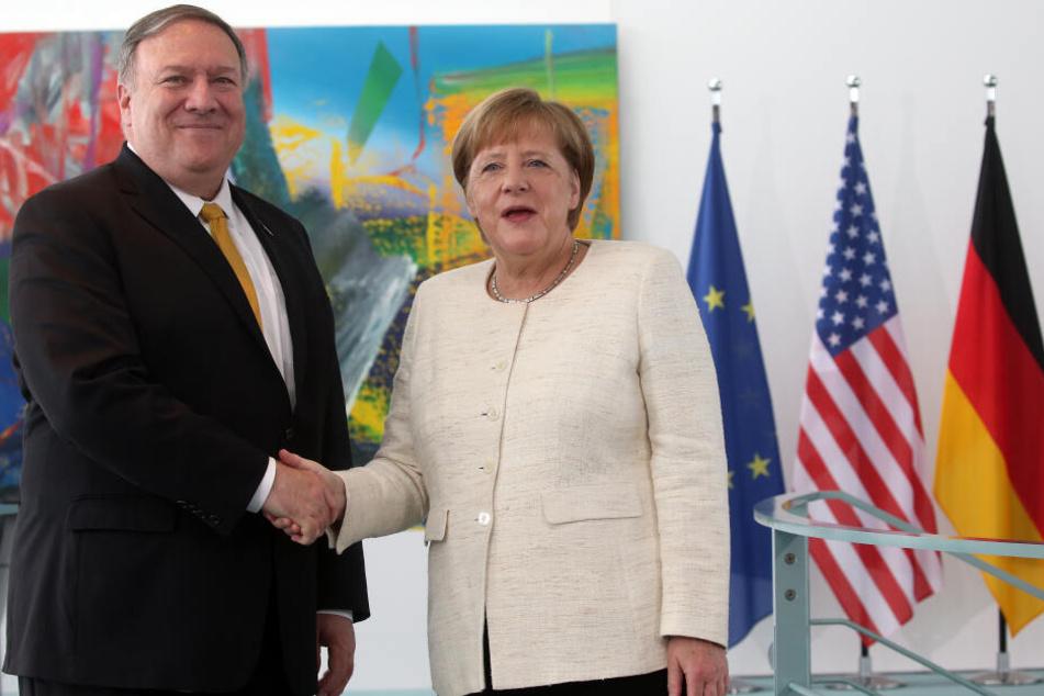 Mike Pompeo zusammen mit Kanzlerin Merkel bei seinem ersten Deutschland-Besuch im Mai.