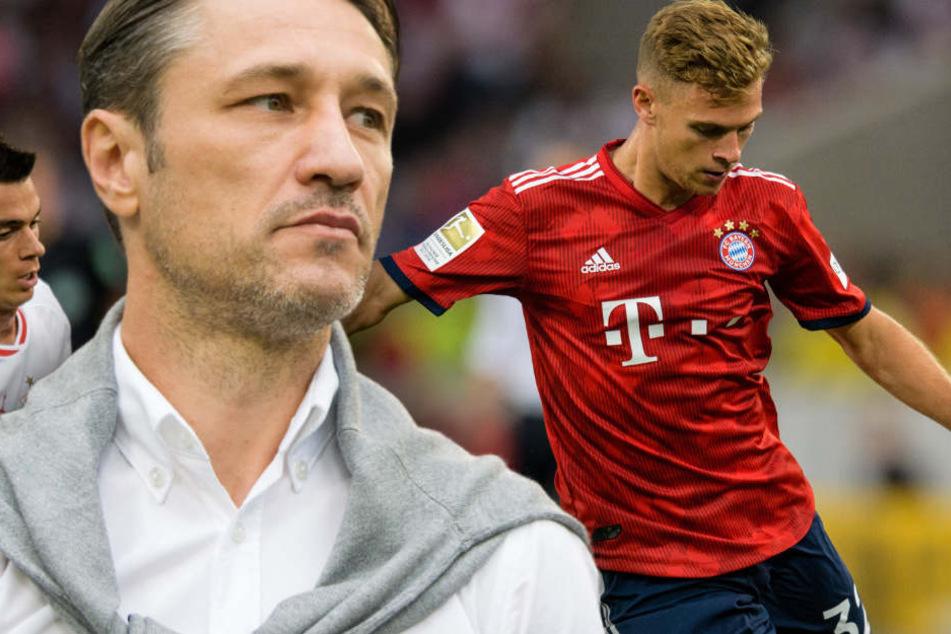 Niko Kovac (l.) hat eine klare Vorstellung für die Position von Joshua Kimmich (r.).