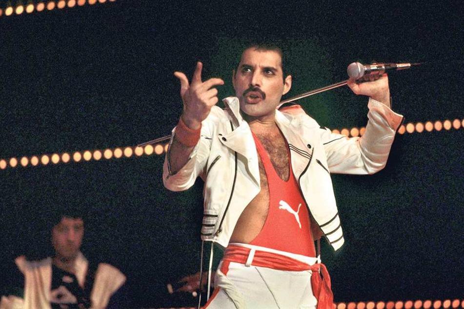 Das Original: Freddie Mercury bei einem Auftritt 1984.