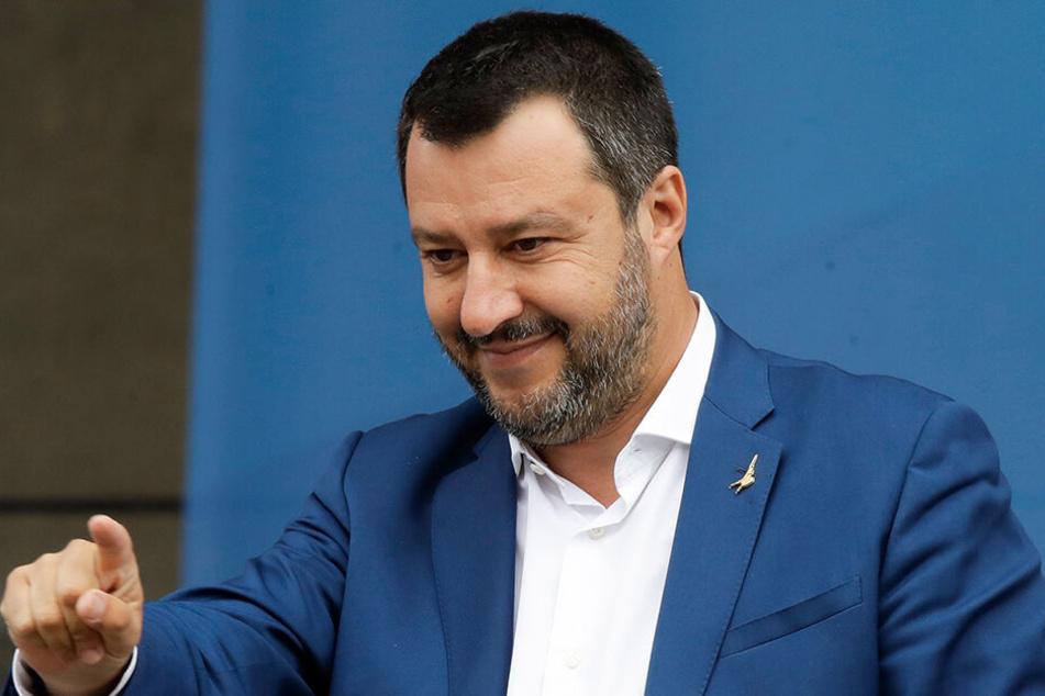 Matteo Salvini, Innenminister von Italien, hat für die Rechtsallianz das Ziel ausgegeben, im Europaparlament stärkste Fraktion zu werden.