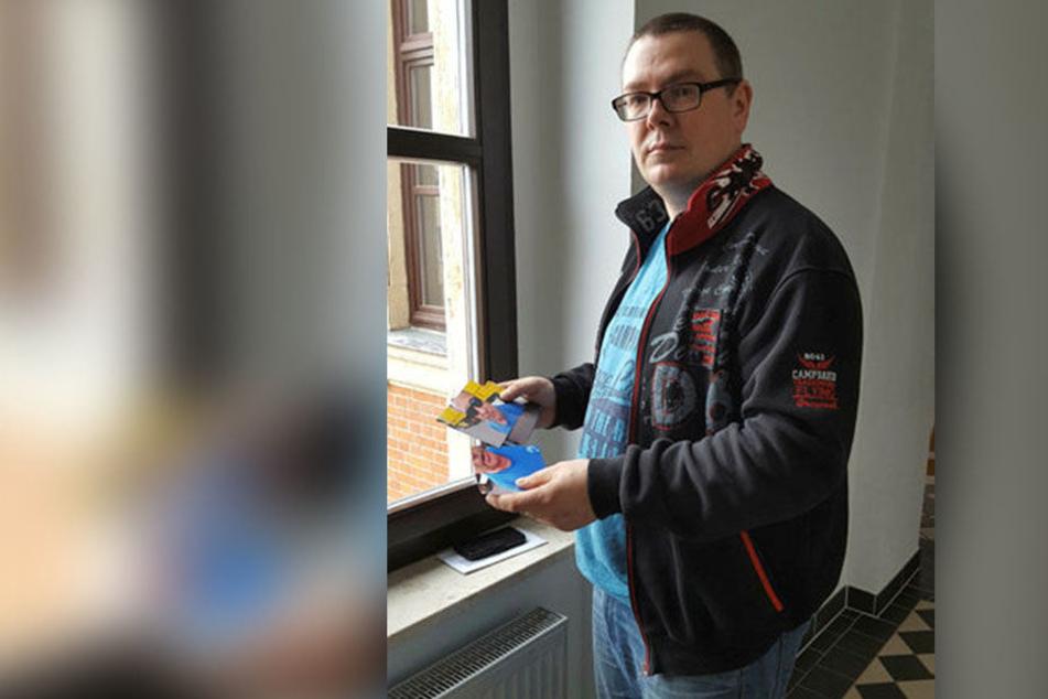 Kai Weigel (45) hatte die Beweis-Fotos vom Vorfall ans Gericht  mitgebracht.