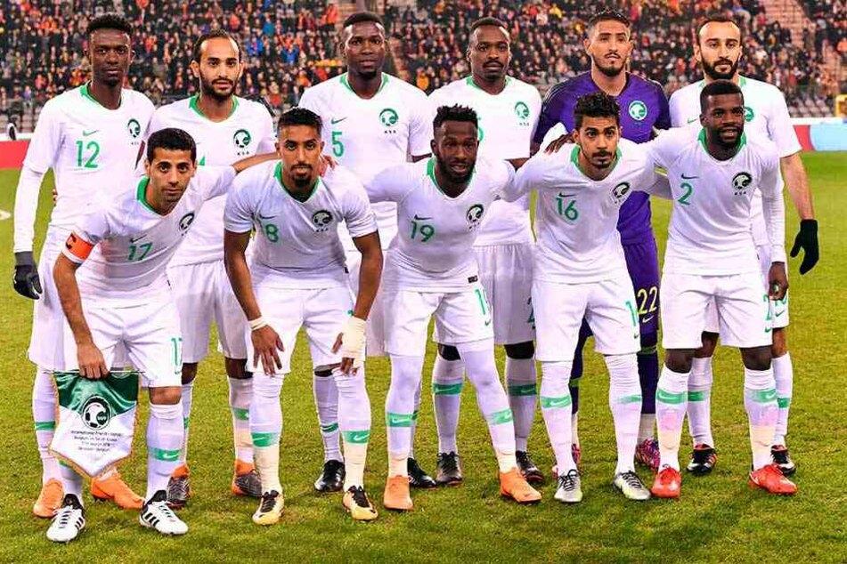 Mannschaftsfoto der Nationalelf von Saudi-Arabien.