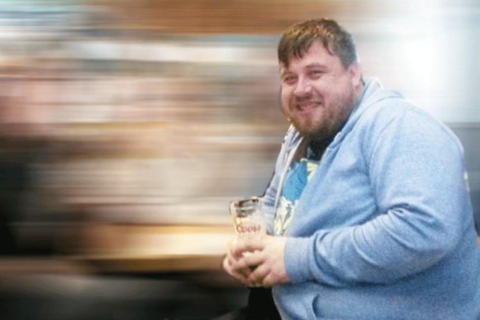 Matthew Symons (35) vor seiner Diät.