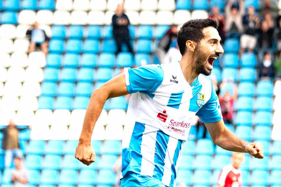 Große Freude: Rafael Garcia erzielte das 2:0 für den CFC.
