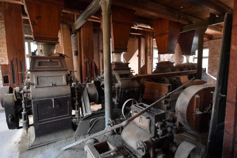In der Wohnmühle ist noch die historische Mühlentechnik erhalten.