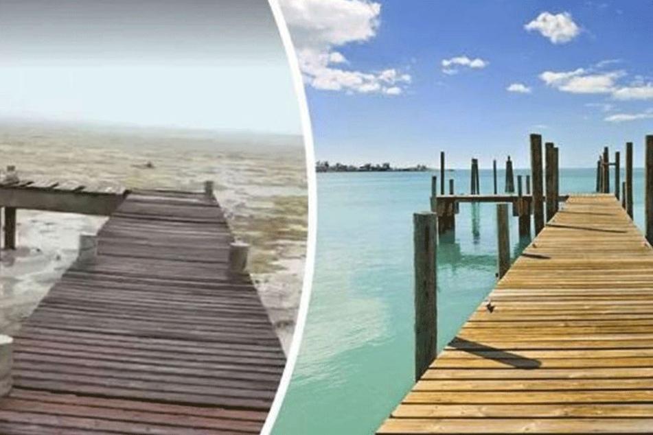 Krasse Bilder! Hier hat Irma den Ozean aufgesaugt