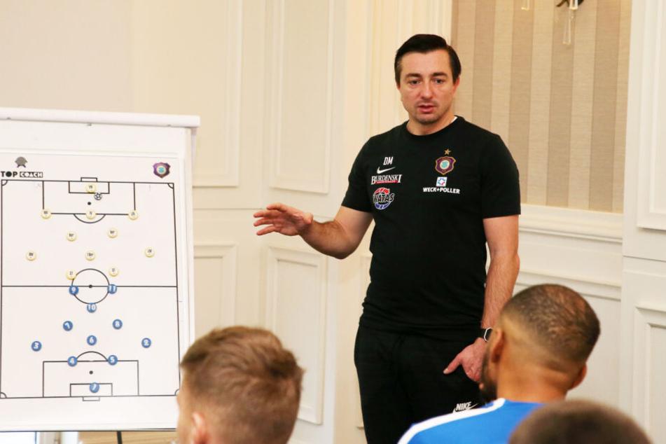 Will bei den künftigen Besprechungen und Spielauswertungen den Blick auf die Tabelle vermeiden: FCE-Trainer Daniel Meyer.