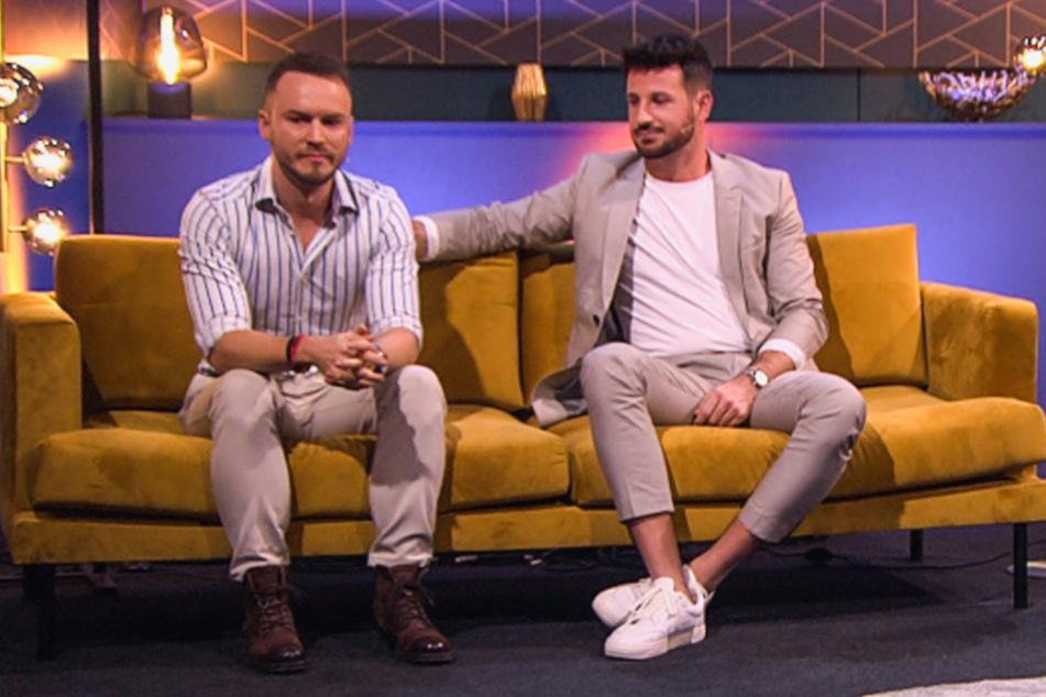 """Beim """"Prince Charming""""-Wiedersehen haben Lauritz Hofmann (28, l.) und Alexander Schäfer (30) erklärt, dass sie kein Paar sind."""