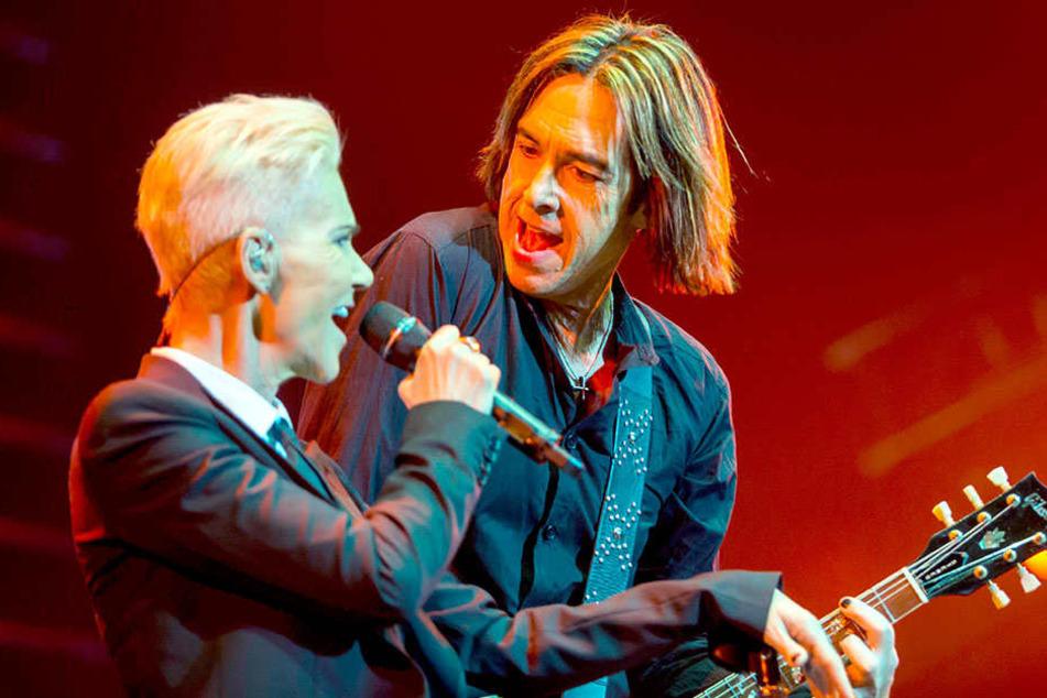 Vor zwei Jahren startete das Duo nochmal gemeinsam auf Tour, doch die Konzerte mussten abgesagt werden. Nun kommt Per Gessle allein.