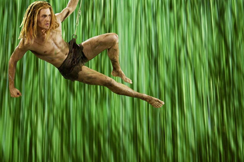 """Alexander Klaws (33) in seiner Rolle als """"Tarzan"""" im gleichnamigen Musical."""