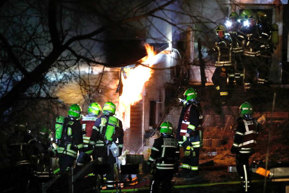 Bei dem Brand in Kleinolbersdorf starb eine Frau.