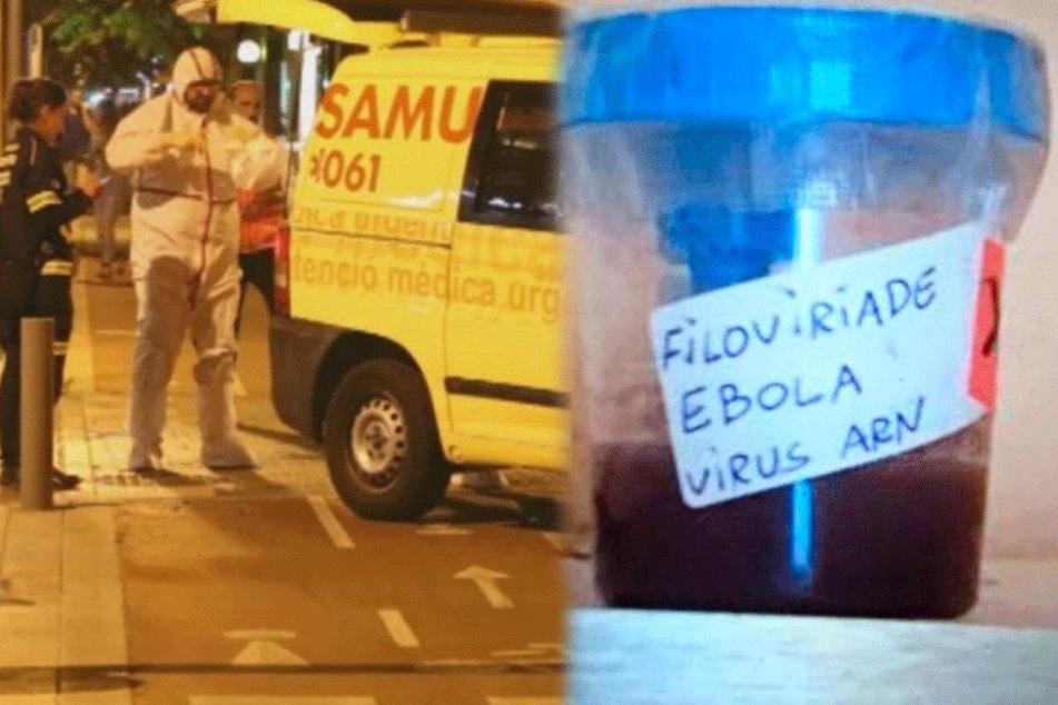 Behälter mit Blut auf Mallorca gefunden: Spezialkräfte im Ebola-Einsatz
