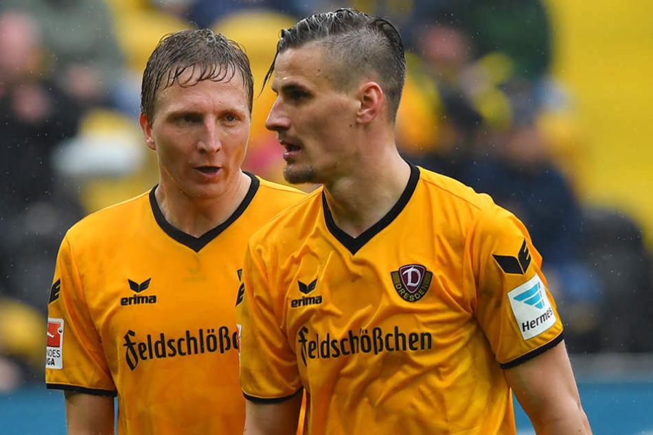 Auf Stefan Kutschke (r.) will der Kapitän ungern verzichten.