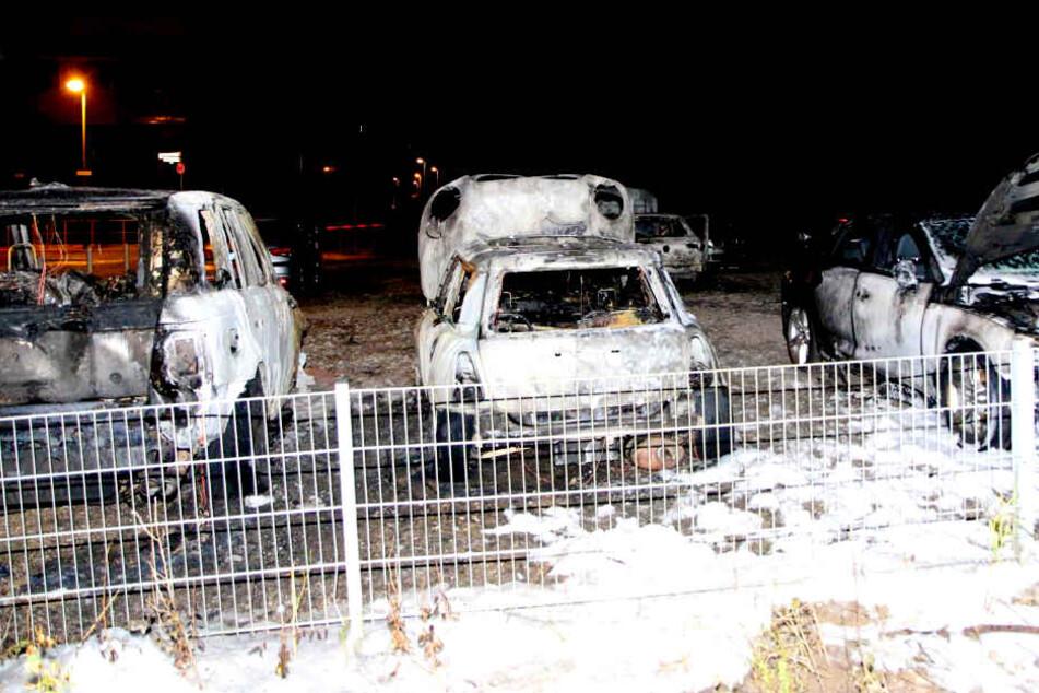 Schon wieder! Fünf Autos in Berlin ausgebrannt