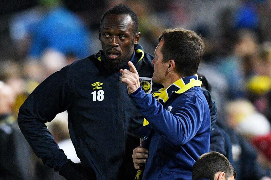 Hätte er den Central Coast Mariners doch weiterhelfen können? Sprintstar Usain Bolt (l.).