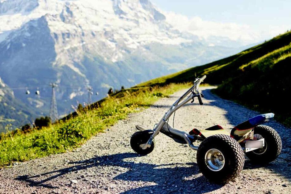 Die Männern waren mit sogenannten Mountaincarts unterwegs. (Symbolbild)