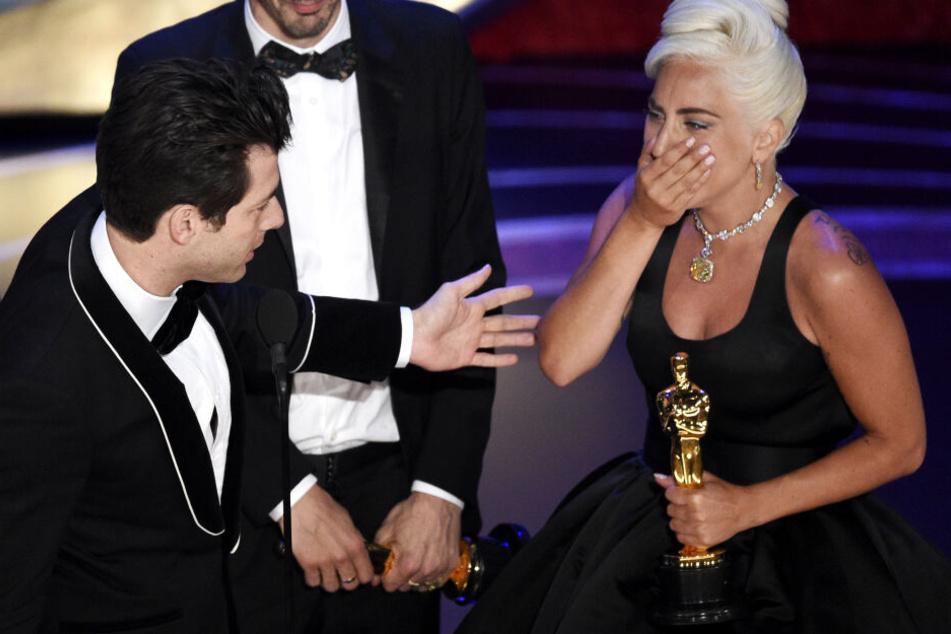 Derzeit befindet sich Lady Gaga auf einer Erfolgslinie: Am Sonntag erhielt sie einen Oscar.