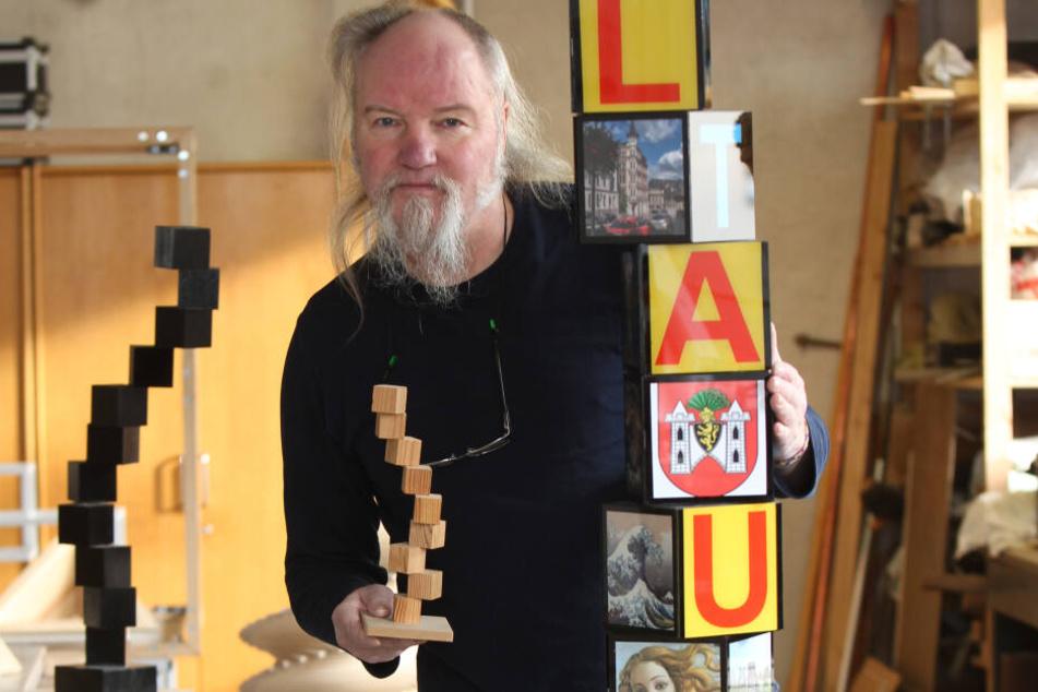 Mitten in Plauen! Künstler will 22-Meter-Turm bauen